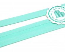 1 Meter elastisches Schrägband - 15mm - Jersey - Minttürkis
