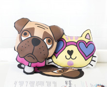 Kissenstoff - DIY - Hund und Katze - OMG - Hamburger Liebe - abby and me