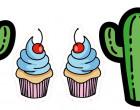 Kissenstoff - DIY - Kaktus und Cupcake - OMG - Hamburger Liebe - abby and me