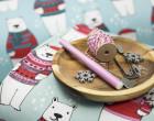 Sommersweat - PolarBear - Weihnachten - eisblau - Andrea Lauren - abby and me
