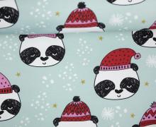 Sommersweat - Winterpanda - Weihnachten - Sterne - mint - Andrea Lauren - abby and me
