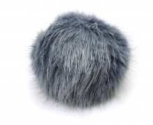 Kunstfell Bommel - Puschel - Pompon - Ø 8cm - Blaugrau