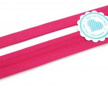 1 Meter elastisches Schrägband - 15mm - Jersey - Fuchsia