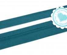 1 Meter elastisches Schrägband - 15mm - Jersey - Petrol