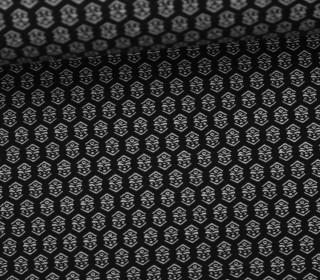 Fashionstoff - Stretch - Kleine Ornamente - Schwarz