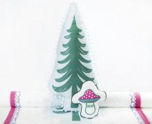 Kissenstoff - DIY - Tannenbaum und Pilz - Weihnachten - Bine Brändle - abby and me