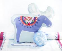 Kissenstoff - DIY - Elch und Schneeflocke - Weihnachten - Bine Brändle - abby and me