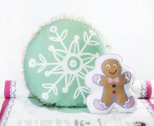 Kissenstoff - DIY - Schneeflocke und Lebkuchenmännchen - Weihnachten - Bine Brändle - abby and me