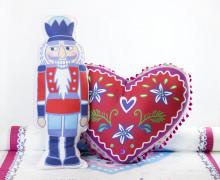 Kissenstoff - DIY - Herz und Nussknacker - Weihnachten - Bine Brändle - abby and me