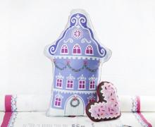 Kissenstoff - DIY - Haus und Herz - Weihnachten - Bine Brändle - abby and me