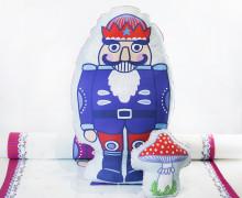 Kissenstoff - DIY - Nussknacker und Pilz - Weihnachten - Bine Brändle - abby and me