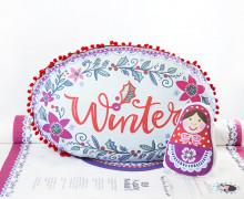 Kissenstoff - DIY - Winterwunderland und Matroschka - Weihnachten - Bine Brändle - abby and me