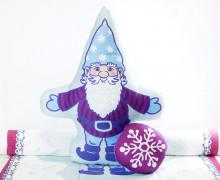 Kissenstoff - DIY - Zwerg und Schneeflocke - Weihnachten - Bine Brändle - abby and me