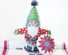 Kissenstoff - DIY - Zwerg und Blume - Weihnachten - Bine Brändle - abby and me
