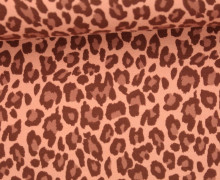 Jersey - Leo Print - Leopardenmuster - Apricot