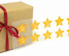 1 Bogen Bügelbilder - Gr. 74/80 - Sterne - Größenlabel - Gelb