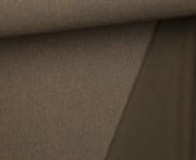 Softshell - Fleece - Uni - Meliert - Dunkelbraun