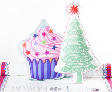 Kissenstoff - DIY - Muffin und Tannenbaum - Weihnachten - Bine Brändle - abby and me