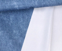 Jackenstoff - Outdoorstoff - Glänzend - Meliert - Uni - Wasserdicht - Blau