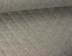 Steppstoff - Rauten - Meliert - Wattiert - Grau/Blau