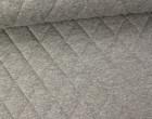Steppstoff - Rauten - Meliert - Wattiert - Grau/Weiß