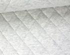 Steppstoff - Rauten - Meliert - Wattiert - Hellgrau
