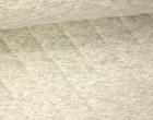 Steppstoff - Rauten - Meliert - Wattiert - Cremegrau