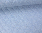 Steppstoff - Rauten - Meliert - Wattiert - Hellblau