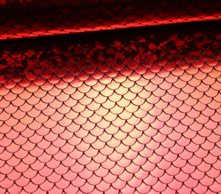 Faschingsstoff - Glänzend - Glitzer - elastisch - Bögen - Rot