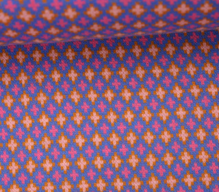 Bio-Jacquard - Criss Cross - Pattern Love - Hamburger Liebe - Blau
