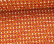 Bio-Jacquard - Criss Cross - Pattern Love - Hamburger Liebe - Orange