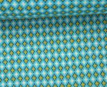 Bio-Jacquard - Criss Cross - Pattern Love - Hamburger Liebe - Aqua