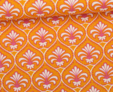 Stoff - Florale Ornamente - Linien - Ring A Roses - Orange