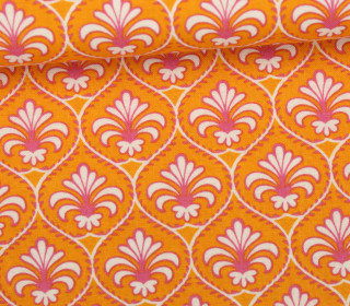 Stoff - Florale Ornamente - Linien - Ring A Roses - Orange