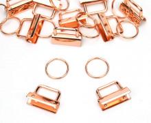 10 Schlüsselanhänger Rohlinge - 3cm - Schlüsselband - Rosegold