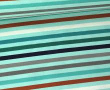 Jersey - Streifen - Stripes - Bunt - Mint