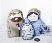 Kissenstoff - DIY - Krippe - Heilige Familie - Weihnachten - formenfroh - abby and me
