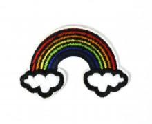 1 Aufbügler - Gestickt - Regenbogen - 7cm x 6cm