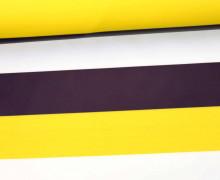 Leichter Regenjacken Stoff - Regencape - Let It Rain - Streifen - Gelb/Aubergine/Weiß
