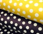Leichter Regenjacken Stoff - Regencape - Let It Rain - Punkte - Dots - Gelb