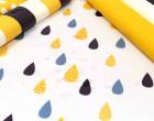 Leichter Regenjacken Stoff - Regencape - Let It Rain - Punkte - Dots - Nachtblau