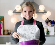 Schürzenstoff - DIY - Cool Santa Schürze - hellgrau - Weihnachten