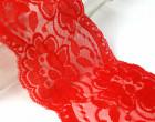 1m elastische Spitze - 95mm - Blumen - Rosa