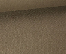 Canvas Stoff - feste Baumwolle - Uni - 145cm - Taupe Dunkel