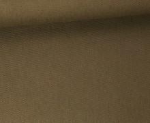 Canvas Stoff - feste Baumwolle - Uni - 145cm - Grünocker