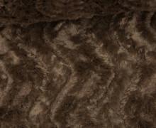 Fashionstoff - Zottelstoff - Wellen - Waves - Dunkelbraun