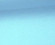 Kunstleder - Fashionstoff - Nappa - Uni - 140cm - Eisblau
