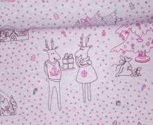 Sommersweat - Bio Qualität - Little Christmas - Christmastown - Weihnachten - rosa - meliert - Little Loveling - abby and me