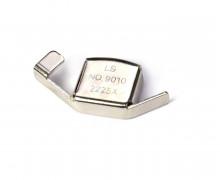 1 Magnetlineal - Kantenlineal - 2cm x 4cm - Silber