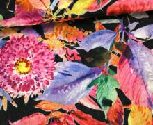 Samt - Blumen - Flower - Royal - Schwarz